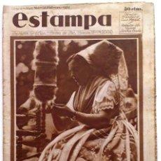 Coleccionismo de Revistas y Periódicos: ESTAMPA, REVISTA GRÁFICA Y LITERARIA. 28 DE FEBRERO DE 1931, N.º 164. ORIGNAL DE ÉPOCA.. Lote 209113867
