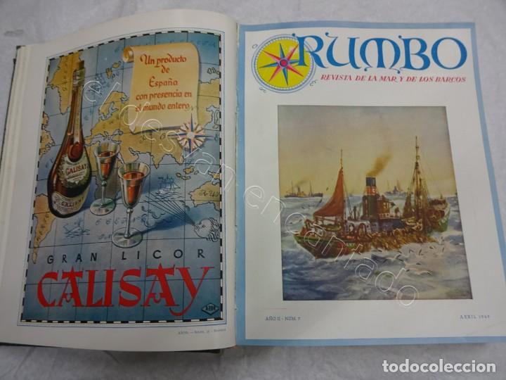 RUMBO. REVISTA DE LA MAR Y DE LOS BARCOS. AÑO 1949 COMPLETO EN UN TOMO (Coleccionismo - Revistas y Periódicos Modernos (a partir de 1.940) - Otros)