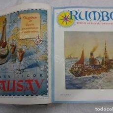 Coleccionismo de Revistas y Periódicos: RUMBO. REVISTA DE LA MAR Y DE LOS BARCOS. AÑO 1949 COMPLETO EN UN TOMO. Lote 209207293