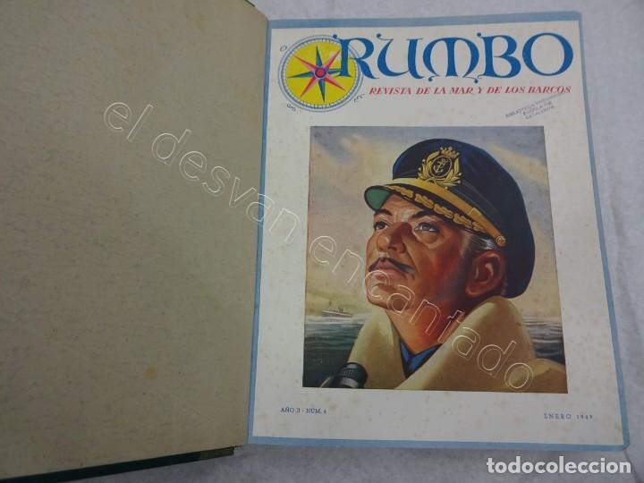Coleccionismo de Revistas y Periódicos: RUMBO. Revista de la Mar y de los Barcos. Año 1949 COMPLETO en un tomo - Foto 2 - 209207293