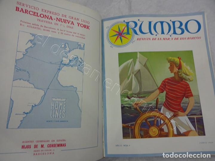 Coleccionismo de Revistas y Periódicos: RUMBO. Revista de la Mar y de los Barcos. Año 1949 COMPLETO en un tomo - Foto 5 - 209207293