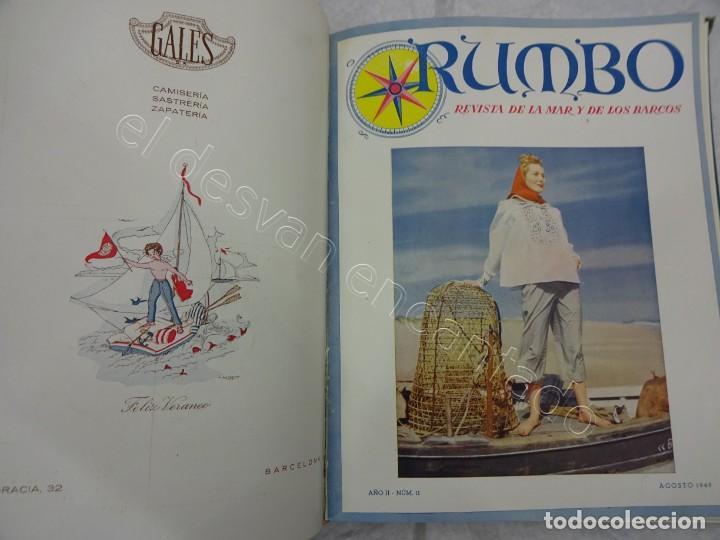 Coleccionismo de Revistas y Periódicos: RUMBO. Revista de la Mar y de los Barcos. Año 1949 COMPLETO en un tomo - Foto 6 - 209207293