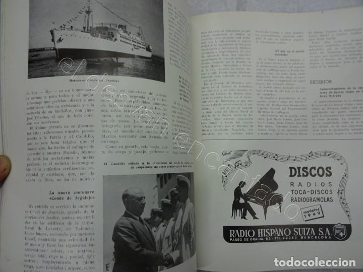 Coleccionismo de Revistas y Periódicos: RUMBO. Revista de la Mar y de los Barcos. Año 1949 COMPLETO en un tomo - Foto 7 - 209207293