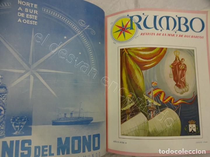 Coleccionismo de Revistas y Periódicos: RUMBO. Revista de la Mar y de los Barcos. Año 1949 COMPLETO en un tomo - Foto 8 - 209207293