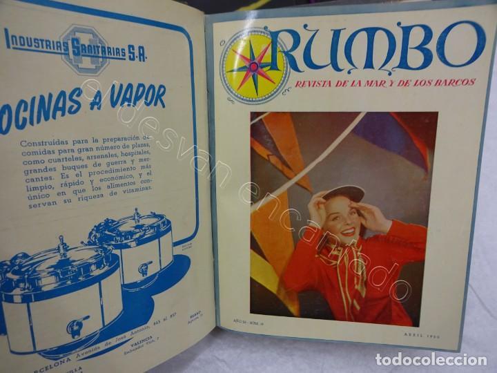 RUMBO. REVISTA DE LA MAR Y DE LOS BARCOS. AÑO 1950 COMPLETO EN UN TOMO (Coleccionismo - Revistas y Periódicos Modernos (a partir de 1.940) - Otros)