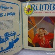 Coleccionismo de Revistas y Periódicos: RUMBO. REVISTA DE LA MAR Y DE LOS BARCOS. AÑO 1950 COMPLETO EN UN TOMO. Lote 209207646