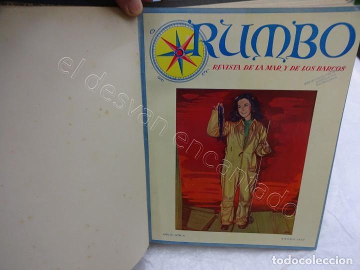 Coleccionismo de Revistas y Periódicos: RUMBO. Revista de la Mar y de los Barcos. Año 1950 COMPLETO en un tomo - Foto 2 - 209207646