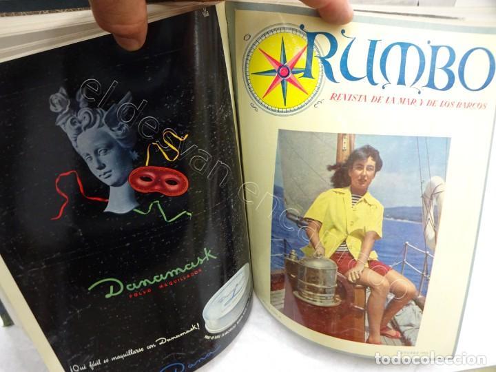 Coleccionismo de Revistas y Periódicos: RUMBO. Revista de la Mar y de los Barcos. Año 1950 COMPLETO en un tomo - Foto 3 - 209207646