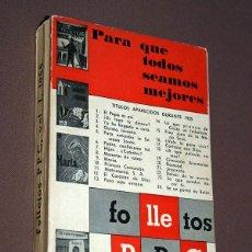 Coleccionismo de Revistas y Periódicos: FOLLETOS PPC (PROPAGANDA POPULAR CATÓLICA), VOL. I. 1955. 24 TÍTULOS EN UN VOLUMEN. VER TÍTULOS.. Lote 209358393