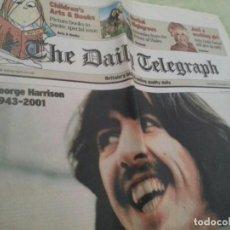 Coleccionismo de Revistas y Periódicos: DAILY TELEGRAPH 2001 - MUERTE DE GEORGE HARRISON DE THE BEATLES. Lote 209364370