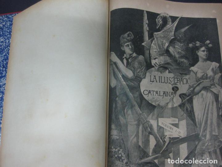 Coleccionismo de Revistas y Periódicos: LA ILUSTRACIO CATALANA. VOL I, II y III. (1880,1881,1882) PRIMERA EPOCA. - Foto 3 - 209579847