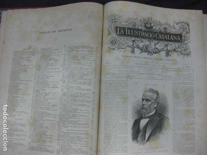 Coleccionismo de Revistas y Periódicos: LA ILUSTRACIO CATALANA. VOL I, II y III. (1880,1881,1882) PRIMERA EPOCA. - Foto 4 - 209579847
