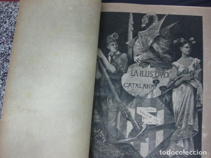 Coleccionismo de Revistas y Periódicos: LA ILUSTRACIO CATALANA. VOL I, II y III. (1880,1881,1882) PRIMERA EPOCA. - Foto 6 - 209579847