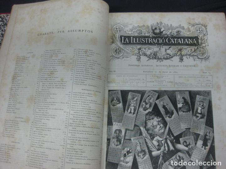 Coleccionismo de Revistas y Periódicos: LA ILUSTRACIO CATALANA. VOL I, II y III. (1880,1881,1882) PRIMERA EPOCA. - Foto 7 - 209579847