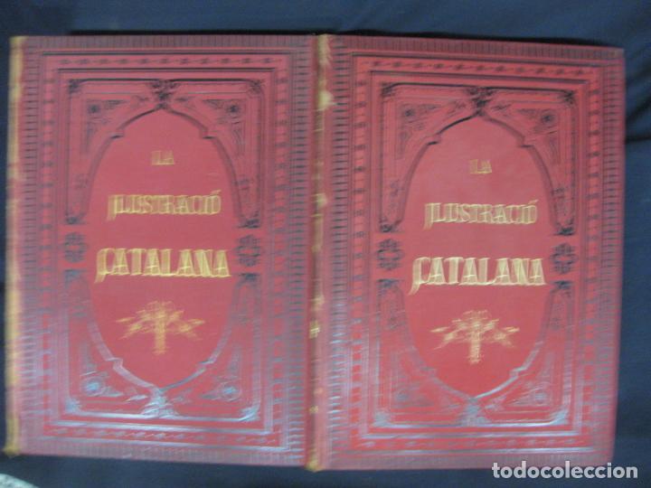LA ILUSTRACIO CATALANA. VOL I, II Y III. (1880,1881,1882) PRIMERA EPOCA. (Coleccionismo - Revistas y Periódicos Antiguos (hasta 1.939))