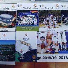 Coleccionismo de Revistas y Periódicos: REVISTAS-8- Y 3 POSTER DEL REAL MADRID,AÑO DEL 2017 AL 2019,UNA TRAE UN DVD SIN ESTRENAR,. Lote 209707203