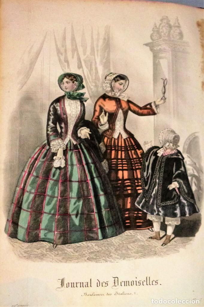 Coleccionismo de Revistas y Periódicos: JOURNAL DES DEMOISELLES. 20 ANNÉE. 1852 - Foto 2 - 209983728