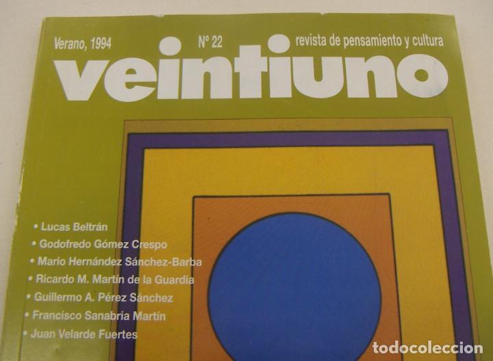 Coleccionismo de Revistas y Periódicos: VEINTIUNO. REVISTA DE PENSAMIENTO Y CULTURA. Nº 22 1994 - Foto 2 - 210001012