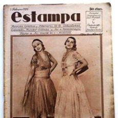 Coleccionismo de Revistas y Periódicos: ESTAMPA, REVISTA GRÁFICA Y LITERARIA. 5 DE FEBRERO DE 1929, N.º 57 ORIGINAL DE ÉPOCA. Lote 210100788