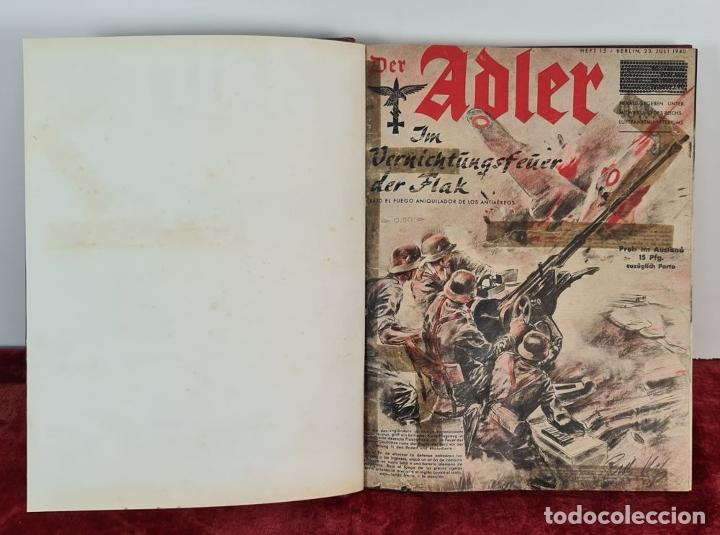 Coleccionismo de Revistas y Periódicos: COLECCION DE 68 REVISTAS ADLER. PROPAGANDA DE GUERRA DE LA LUFTWAFFE. 1940-1943. - Foto 2 - 210195380