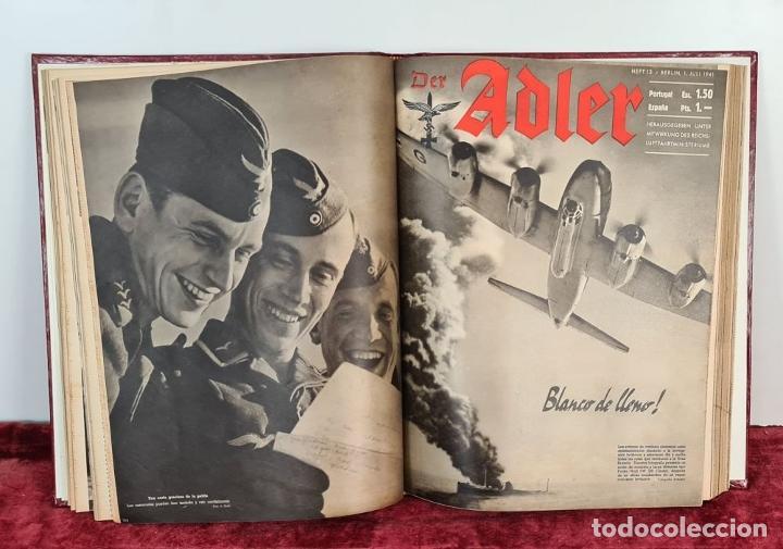 Coleccionismo de Revistas y Periódicos: COLECCION DE 68 REVISTAS ADLER. PROPAGANDA DE GUERRA DE LA LUFTWAFFE. 1940-1943. - Foto 4 - 210195380