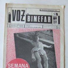 Colecionismo de Revistas e Jornais: LA VOZ DE BINEFAR Nº 7 MARZO 1970 ROMERIA DE SAN QUILEZ. Lote 210198495