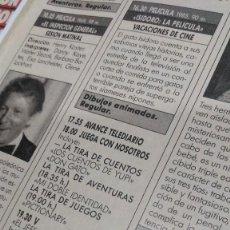 Coleccionismo de Revistas y Periódicos: REVISTA CLAN TV 254 SERIE V, ALEJANDRO SANZ, PROGRAMACIÓN NAVIDAD, MARIELA ALCALÁ RUBÍ. Lote 210259262