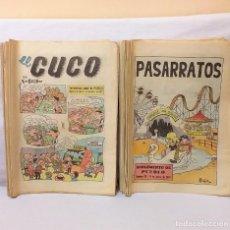 Colecionismo de Revistas e Jornais: LOTE 34 EJEMPLARES SUPLEMENTO INFANTIL DE PUEBLO EL CUCO Y PASARRATOS AÑO 1972 BUEN ESTADO. Lote 210309288