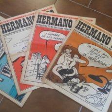 Coleccionismo de Revistas y Periódicos: SEMANARIO DE HUMOR HERMANO LOBO 4 NUMEROS. Lote 210329647