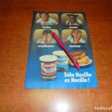 Coleccionismo de Revistas y Periódicos: PUBLICIDAD 1980: NOCILLA. Lote 210353292
