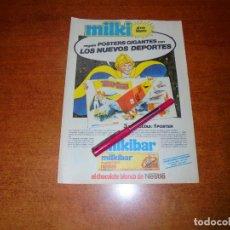 Coleccionismo de Revistas y Periódicos: PUBLICIDAD 1980: MILKIBAR EL CHOCOLATE BLANCO DE NESTLE.. Lote 210353367