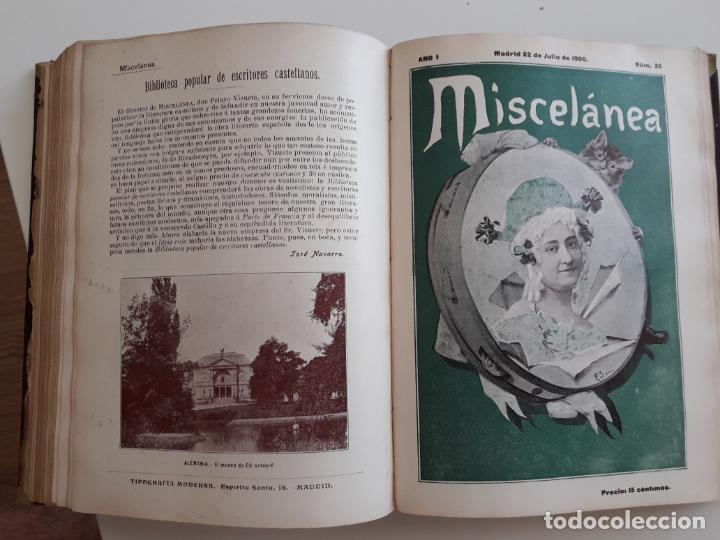Coleccionismo de Revistas y Periódicos: Revista miscelánea completo año I -59 revistas - Foto 7 - 210396903