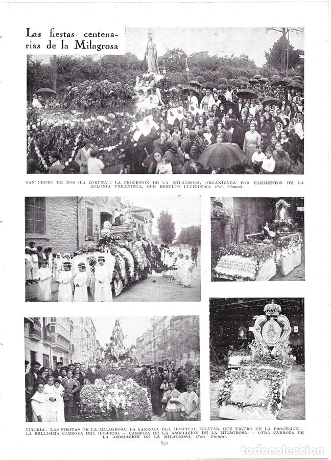 1930 HOJA REVISTA LA CORUÑA SAN PEDRO DE NOS PROCESIÓN DE LA MILAGROSA ORGANIZA COLONIA VERANIEGA (Coleccionismo - Revistas y Periódicos Antiguos (hasta 1.939))