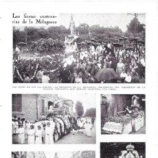 Coleccionismo de Revistas y Periódicos: 1930 HOJA REVISTA ÁLAVA VITORIA FIESTAS DE LA MILAGROSA PROCESIÓN DE CARROZAS. Lote 210408496