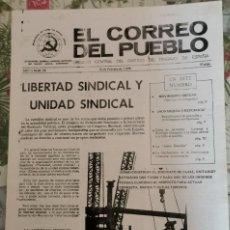Colecionismo de Revistas e Jornais: -TRANSICION-EL CORREO DEL PUEBLO-ORGANO CENTRAL DEL PARTIDO DEL TRABAJO DE ESPAÑA AÑO II Nº 29. Lote 210409065