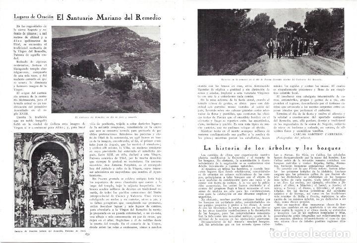 1930 HOJAS REVISTA SANTUARIO MARIANO DEL REMEDIO EN UTIEL FERIA PROCESIÓN ROMERÍA (Coleccionismo - Revistas y Periódicos Antiguos (hasta 1.939))