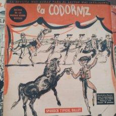 Coleccionismo de Revistas y Periódicos: LOTE DE REVISTAS LA CODORNIZ. Lote 210554288