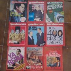 Collezionismo di Riviste e Giornali: LOTE DE 16 REVISTAS DE POLITICA GENTLEMAN GUADIANA Y MUNDO AÑOS 70. Lote 210575528