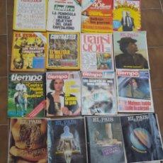 Coleccionismo de Revistas y Periódicos: LOTE 24 REVISTAS LOTE VARIADO POLITICA EL PAIS SEMANAL TIEMPO. INDICE ETC AÑOS 70/80. Lote 210577438