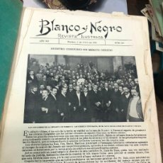 Coleccionismo de Revistas y Periódicos: BLANCO Y NEGRO DESDE AÑO XII NUM. 583 5 JULIO DE 1902 AL AÑO XII NUM 607 20 DICIEMBRE DE 1902. Lote 210594813