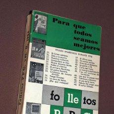 Coleccionismo de Revistas y Periódicos: FOLLETOS PPC (PROPAGANDA POPULAR CATÓLICA), VOL. II. 1956. 24 TÍTULOS EN UN VOLUMEN. VER TÍTULOS.. Lote 210603451