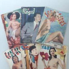 Colecionismo de Revistas e Jornais: LOTE DE SEIS REVISTAS EROTICAS EN FRANCES, AÑOS 1950-1953, REVISTAS EROTICAS / EROTIC MAGAZINES. Lote 210657289