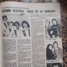 Coleccionismo de Revistas y Periódicos: RAFAELLA CARRA RAFAELA RAFFAELLA ENRIQUE DEL POZO MIGUEL BOSE LORENZO SANTAMARIA ELSA BAEZA CAFE CRE. Lote 210661016