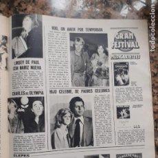 Coleccionismo de Revistas y Periódicos: JOE DASSIN ROD STEWART LINSEY DE PAUL CHARLES AZNAVOUR. Lote 210662001