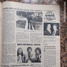 Coleccionismo de Revistas y Periódicos: RAYMOND JULIO IGLESIAS THE ROLLING STONES HOTEL CALIFORNIA. Lote 210662299