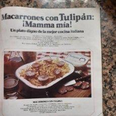 Coleccionismo de Revistas y Periódicos: ANUNCIO TULIPAN. Lote 210662515