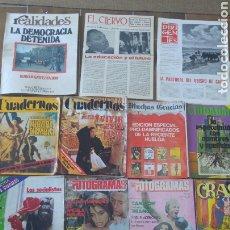 Coleccionismo de Revistas y Periódicos: LOTE DE 13 REVISTAS VARIADAS AÑOS. Lote 210671219