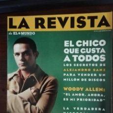 Coleccionismo de Revistas y Periódicos: LA REVISTA (EL MUNDO). Nº 117, AÑO 1998. EL CHICO QUE GUSTA A TODAS, ALEJANDRO SANZ.... Lote 210749837