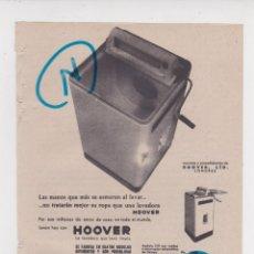 Coleccionismo de Revistas y Periódicos: PUBLICIDAD T 1960. ANUNCIO LAVADORA HOOVER. MANUFACTURAS METALICAS MADRILEÑAS, S.A.. Lote 210935902