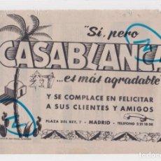 Coleccionismo de Revistas y Periódicos: PUBLICIDAD T 1960. ANUNCIO CASABLANCA. DANCING SALON DE TE (MADRID). Lote 210937470
